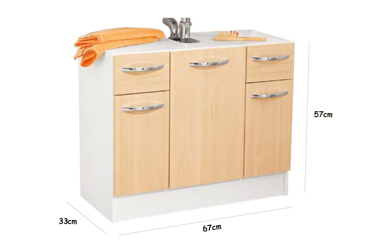waschbeckenunterschrank badezimmer unterschrank wei birke neu 67x57x33. Black Bedroom Furniture Sets. Home Design Ideas