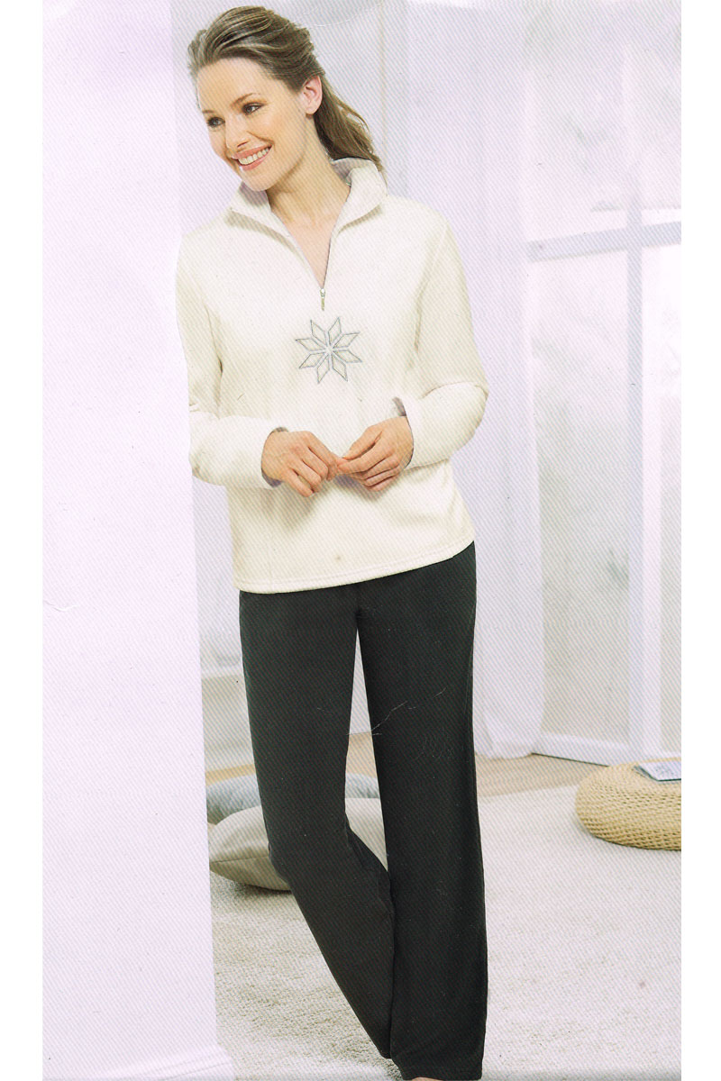 damen fleece wellness anzug hausanzug pyjama schlafanzug. Black Bedroom Furniture Sets. Home Design Ideas