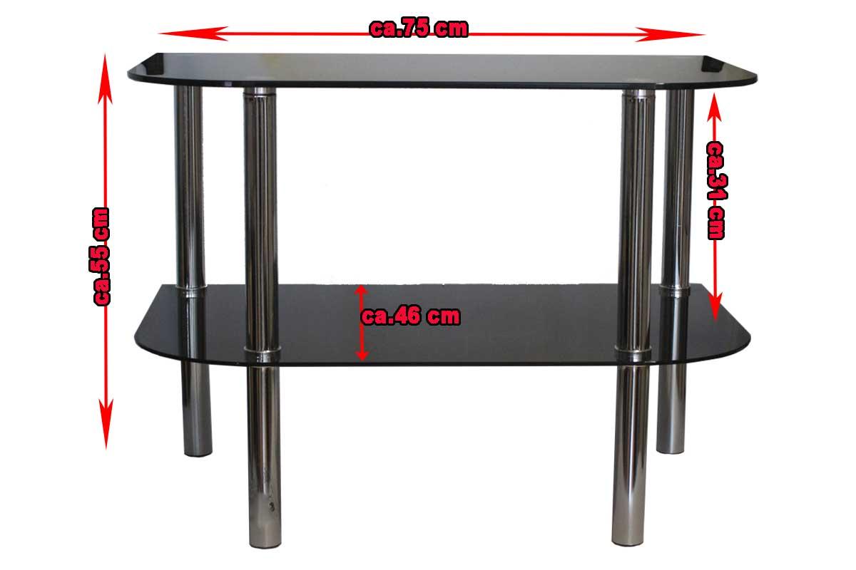 glastisch fernseh lcd plasma tv hifi tisch rack rak neu. Black Bedroom Furniture Sets. Home Design Ideas
