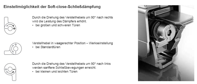 GRASS Tiomos SCHARNIER-SYSTEM, Möbel - Scharnier Topfband SOFT ...