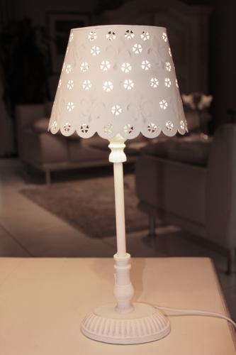 stehlampe dordogne rund oval wei tischlampe shabby chic stehleuchte ebay. Black Bedroom Furniture Sets. Home Design Ideas