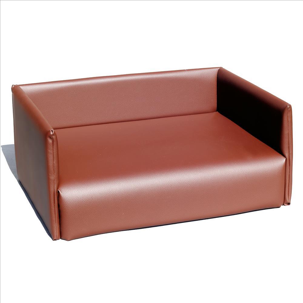 hundesofa hundecouch hundebett hundekissen sofa kunstleder braun gr s ebay. Black Bedroom Furniture Sets. Home Design Ideas