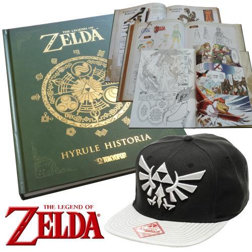 Zelda-Geschenkset-Artbook-Hyrule-Historia-dt-Baseball-Cap-Snapback-Zelda-Logo