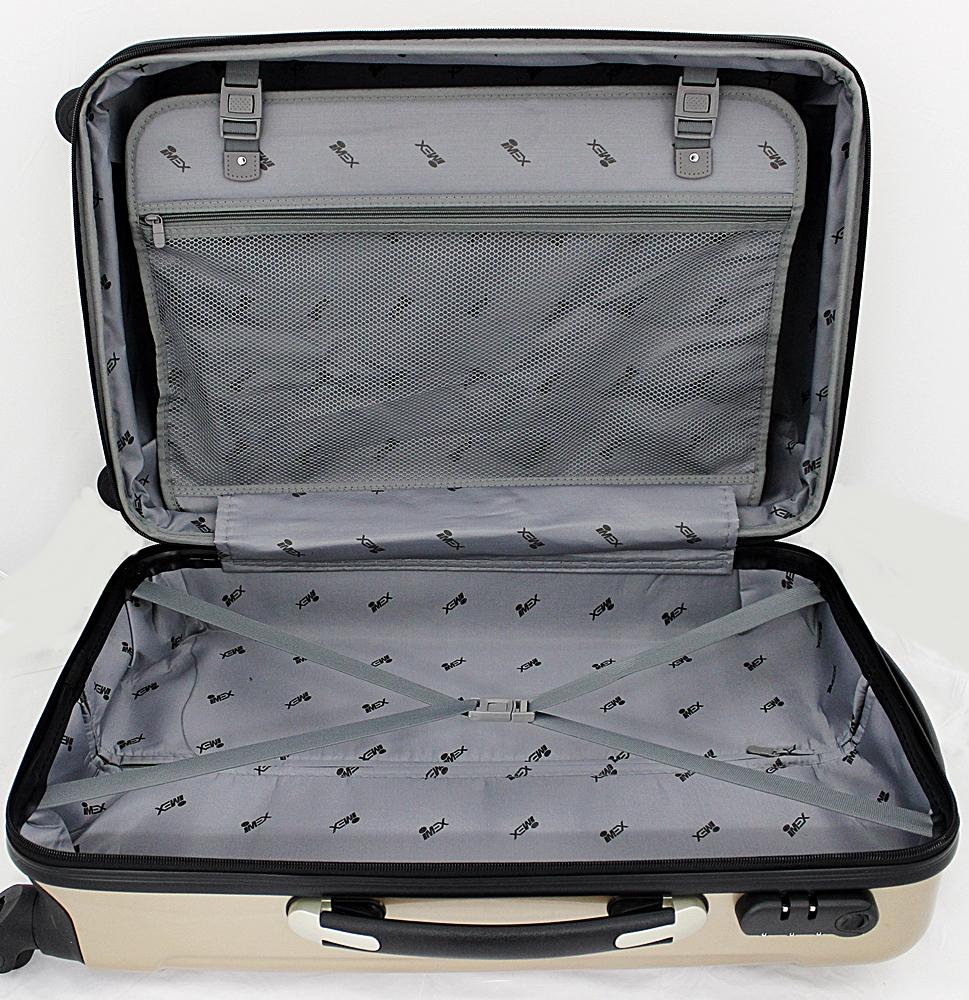 koffer hartschalenkoffer trolley reisekoffer polycarbonat gold champagner ebay. Black Bedroom Furniture Sets. Home Design Ideas
