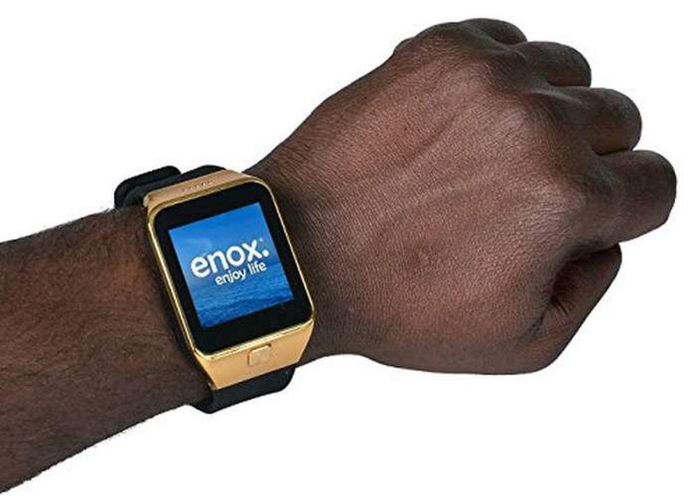 enox swp55 smartwatch smartphone handyuhr gold ebay. Black Bedroom Furniture Sets. Home Design Ideas
