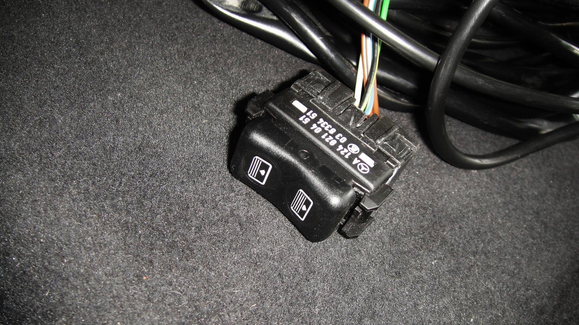 hutablage mit rollo schalter kabel schwarz mercedes w124. Black Bedroom Furniture Sets. Home Design Ideas