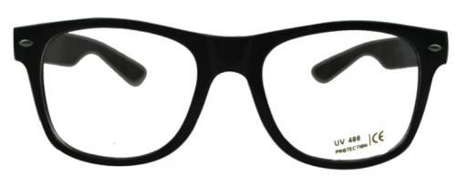 nerdbrille scharz klar hipster neu brille hornbrille uv. Black Bedroom Furniture Sets. Home Design Ideas