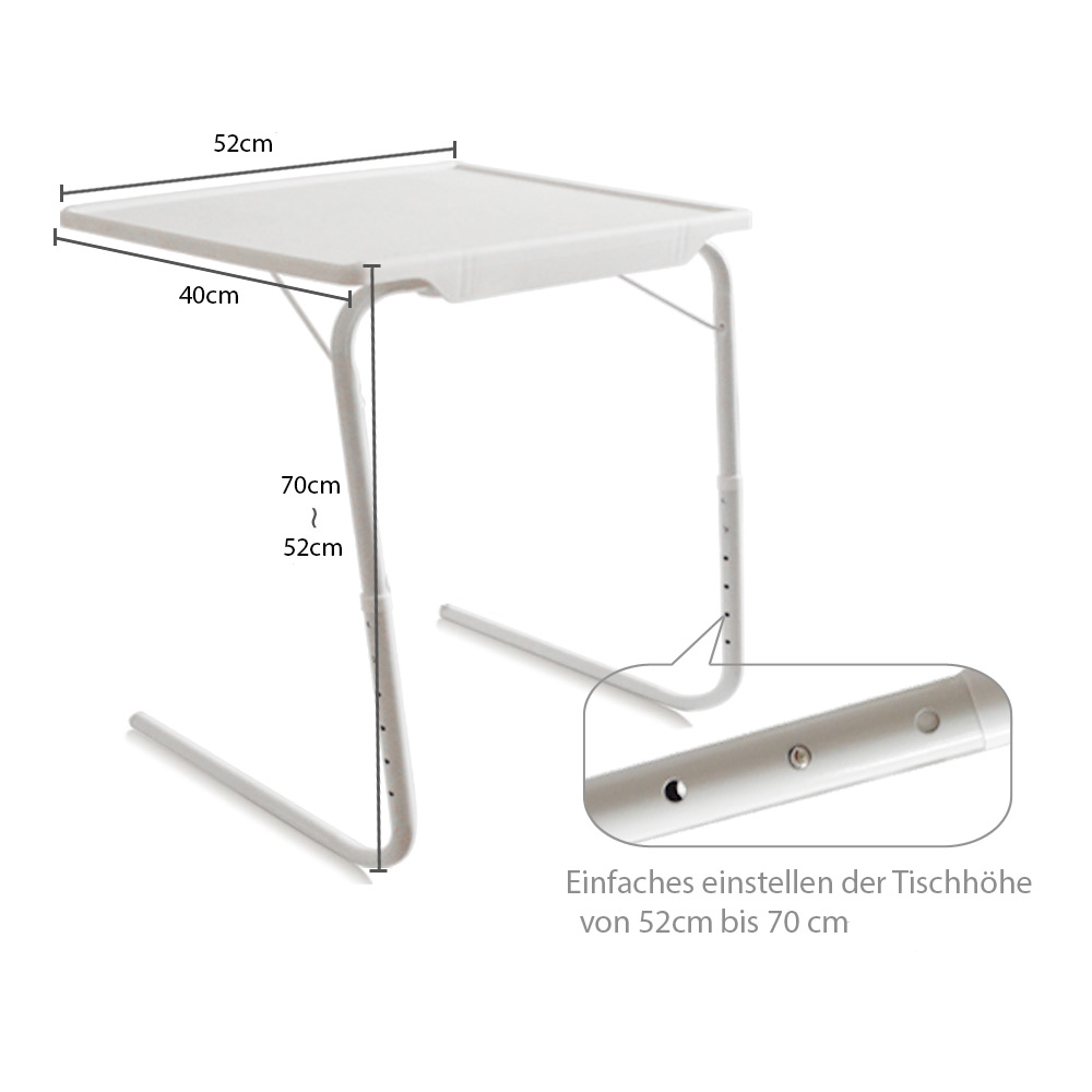 tisch klappbar beistelltisch multifunktionstisch pflegetisch weiss ebay. Black Bedroom Furniture Sets. Home Design Ideas