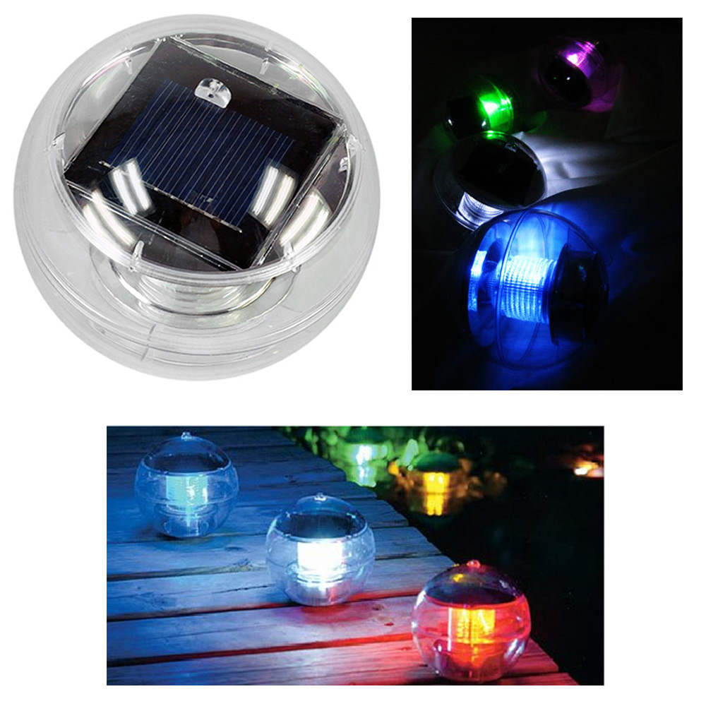 led solarkugel rgb solarleuchten garten balkon pool beleuchtung 2er pack ebay. Black Bedroom Furniture Sets. Home Design Ideas