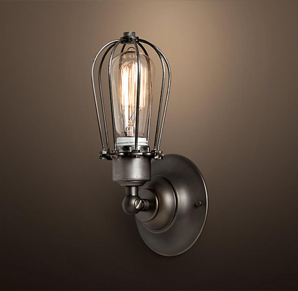 antik retro vintage k fig lampe wandleuchte inkl 40w edison gl hbirne ebay. Black Bedroom Furniture Sets. Home Design Ideas