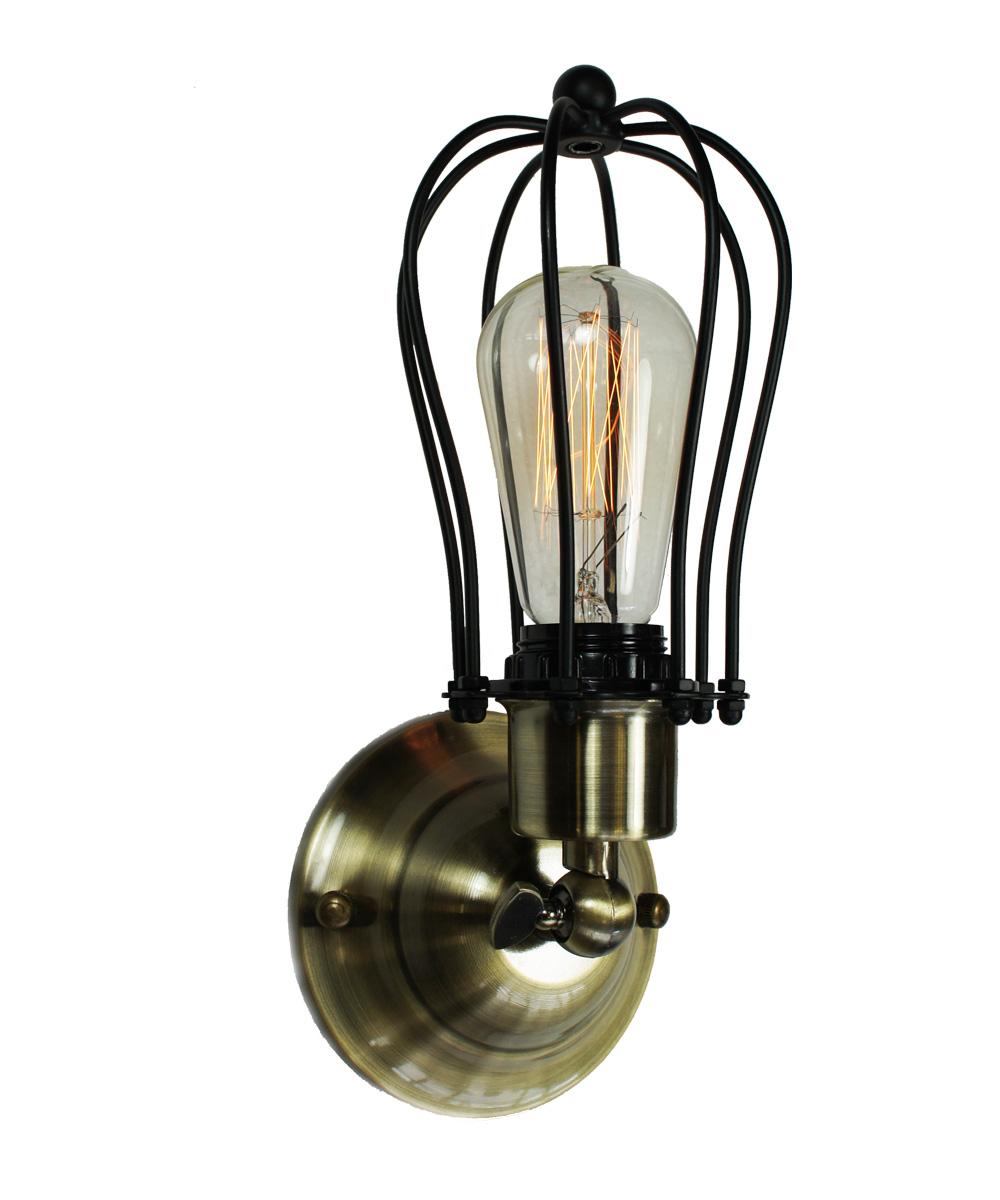 antik retro k fig lampe wandleuchte bronze black inkl nostalgie gl hbirne ebay. Black Bedroom Furniture Sets. Home Design Ideas