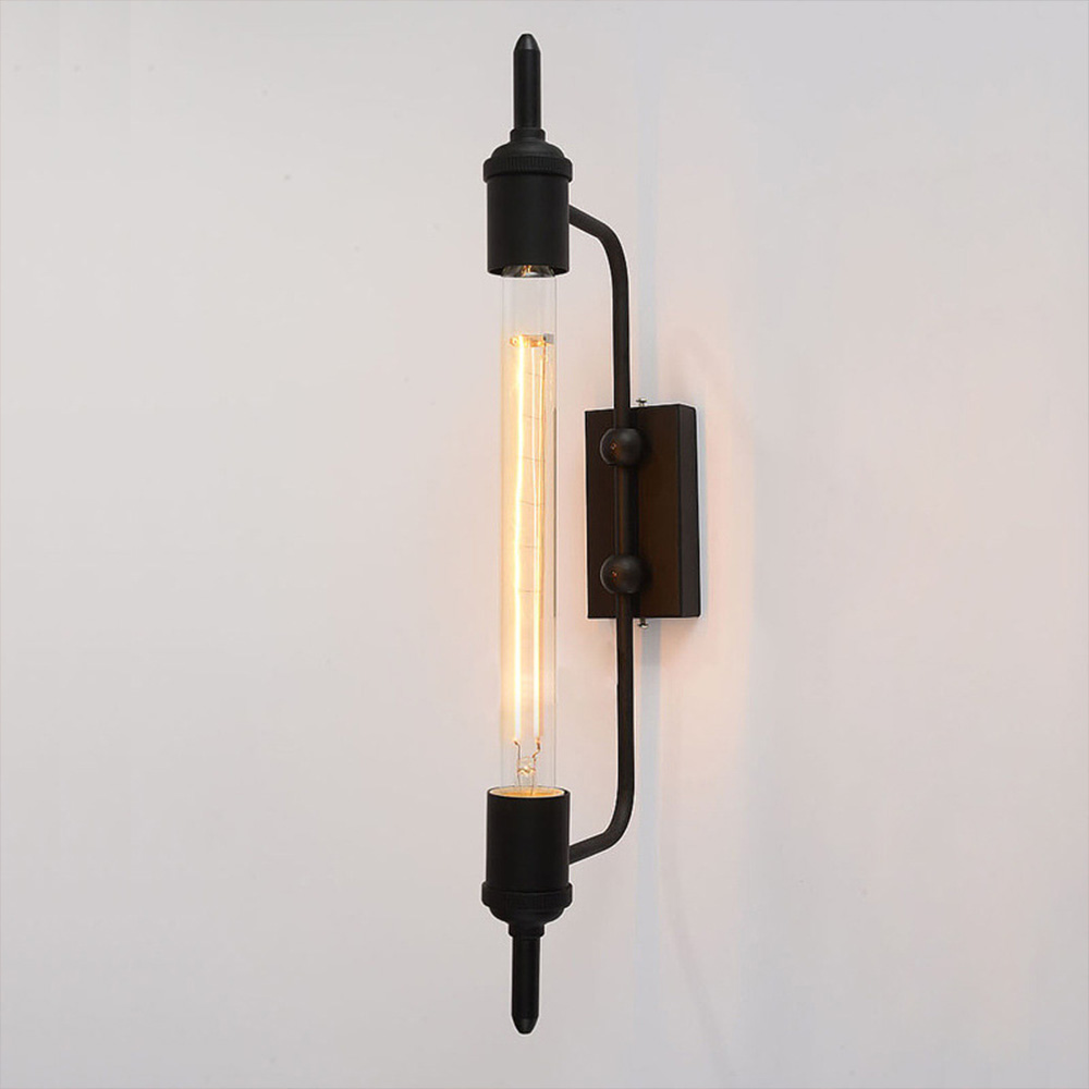 antik rustikal pencil wandlampe wandleuchte in schwarz b. Black Bedroom Furniture Sets. Home Design Ideas