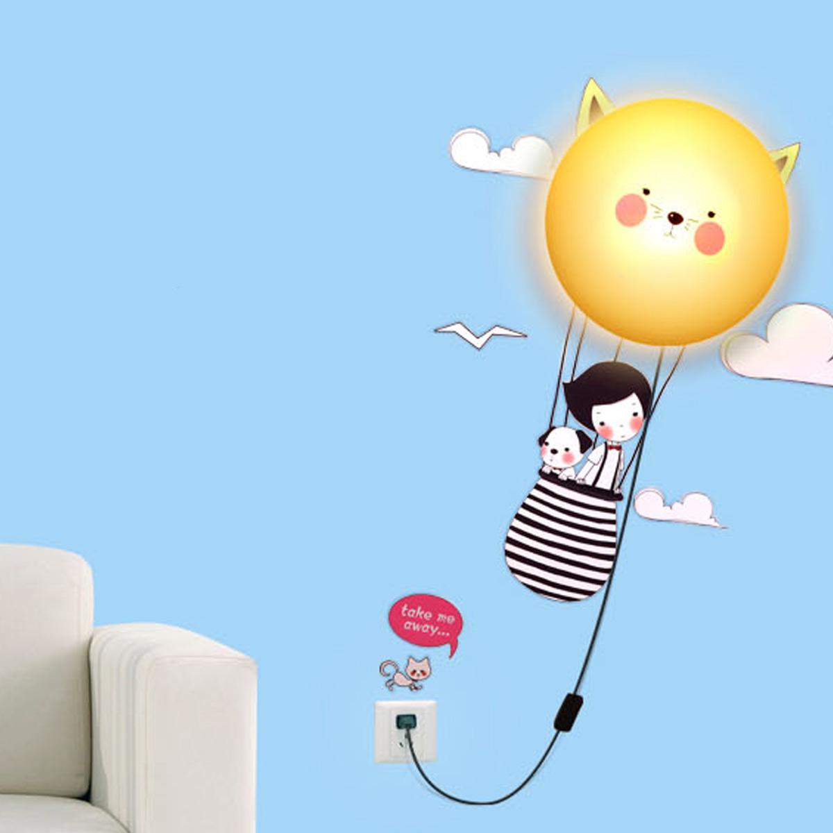 kinderlampe wanddekoration kinderzimmer mit wandtattoo sonne ebay. Black Bedroom Furniture Sets. Home Design Ideas