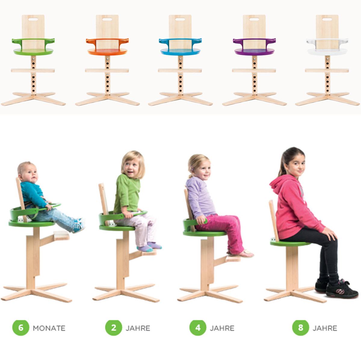 kinderhochstuhl babyhochstuhl aus holz von 0 bis 10 jahre hohe stabilit t ebay. Black Bedroom Furniture Sets. Home Design Ideas