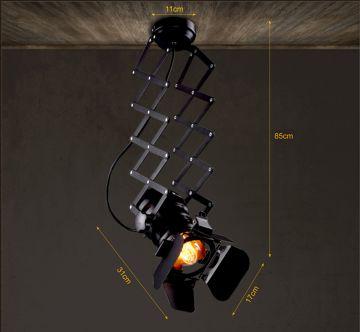 retro industrial camera scherenlampe h ngelampe inkl leuchtmittel ebay. Black Bedroom Furniture Sets. Home Design Ideas