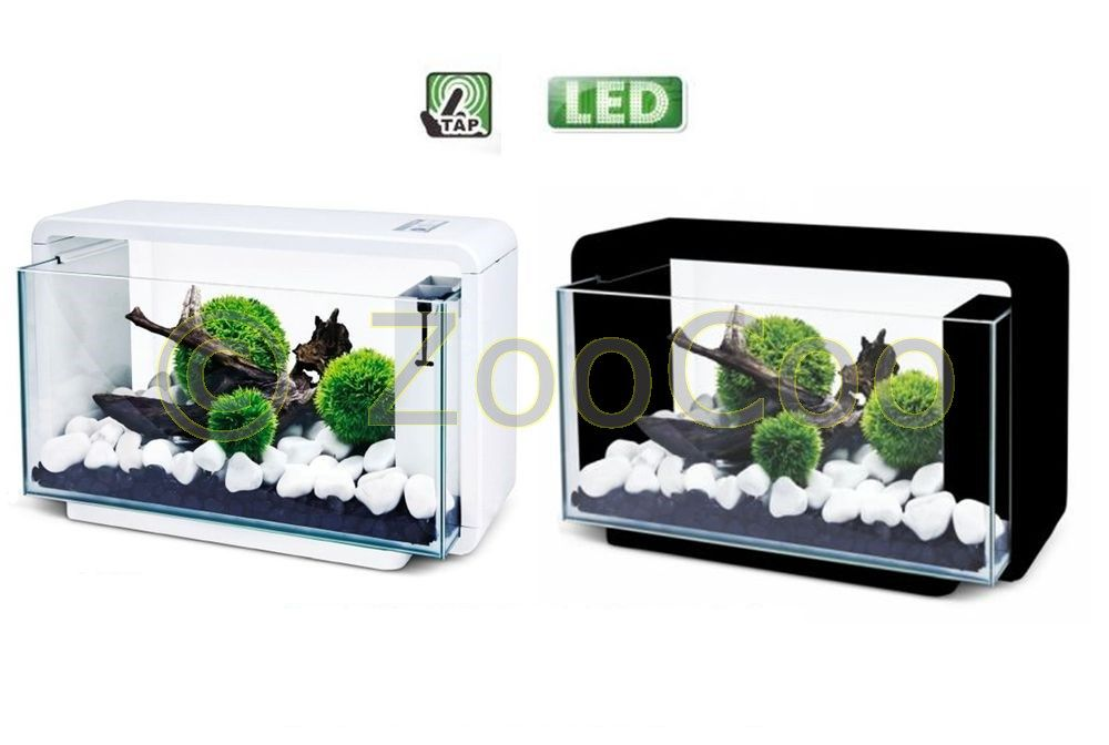 HAILEA-E25-Aquariumset-ECO-Aquarium-Komplett-SET-Nano-E-25-weiss-schwarz