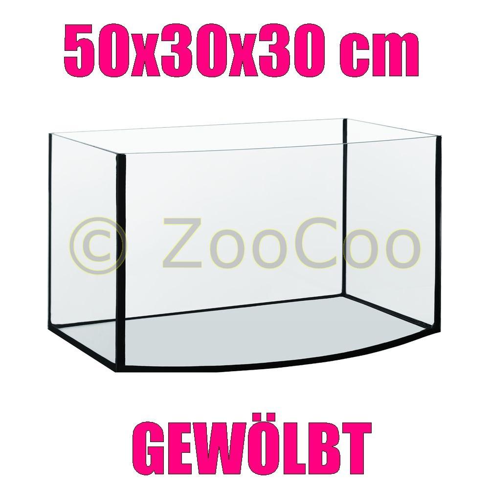 50x30x30-cm-GEWOLBT-Aquarium-Becken-Glasbecken-Glasaquarium-Glas-Terrarium-50-30