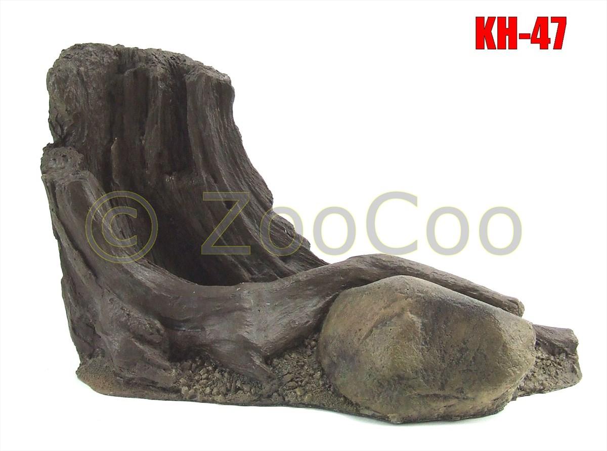 KH-Serie-4-Modelle-Aquarium-Terrarium-Deko-Felsen-Hoehle-Wurzel-Baumstumpf
