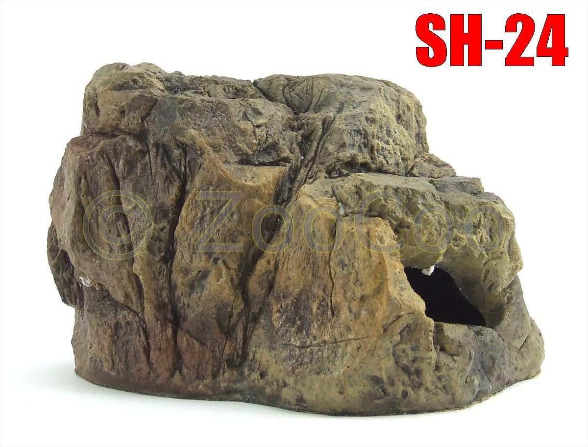 SH-Serie-5-Modelle-Aquarium-Terrarium-Deko-Barschhoehle-Felsen-Hoehle-Versteckt