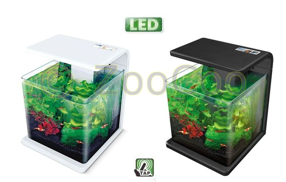 hailea e15 aquariumset eco led aquarium komplett nano set garnelen aquascaping ebay. Black Bedroom Furniture Sets. Home Design Ideas