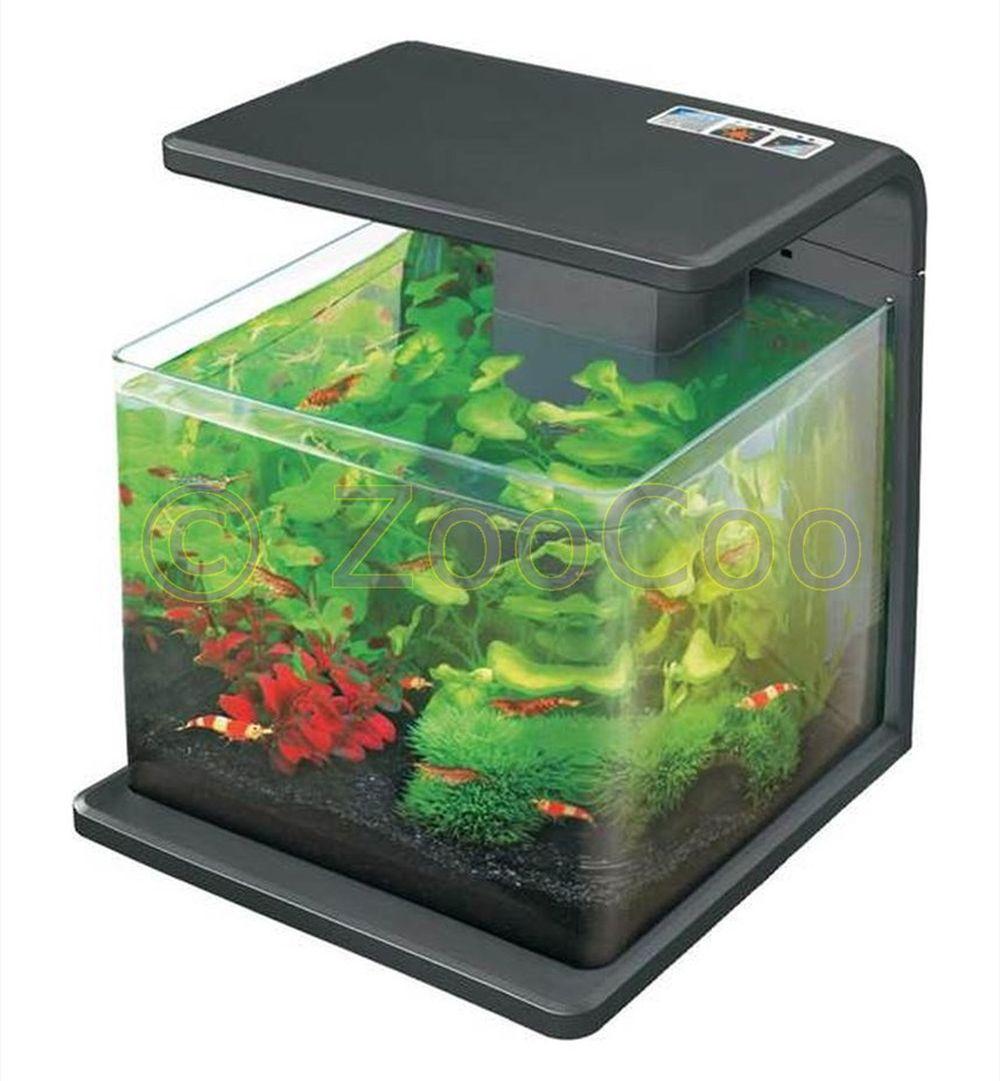 hailea e15 aquariumset eco led aquarium komplett nano set garnelen aquascaping ebay. Black Bedroom Furniture Sets. Home Design Ideas