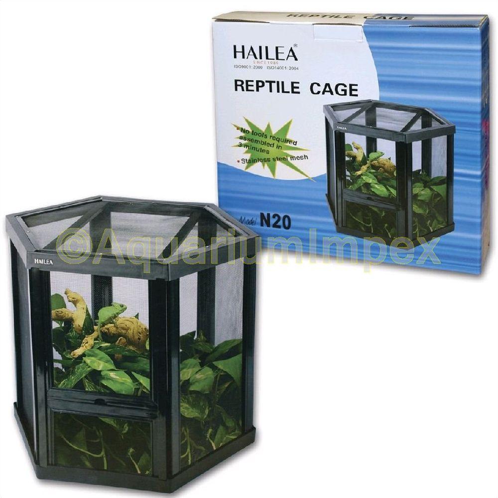HAILEA-Terrarium-fuer-Reptilien-Insekten-FALTBAR-2x-Tuer-Freiluft-Kunststoff