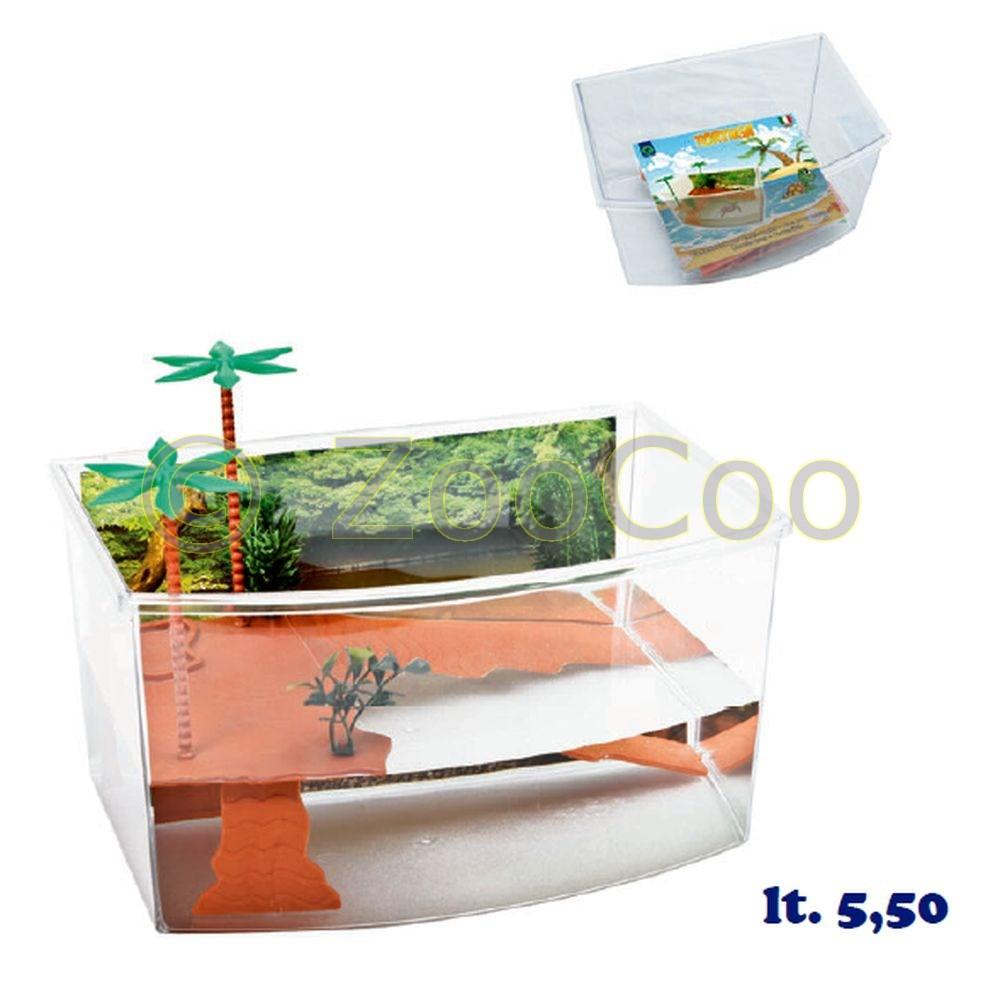 Schildkroeten-Terrarium-Insel-Aquarium-Becken-Heim-Wasserschildkroeten-Kunststoff
