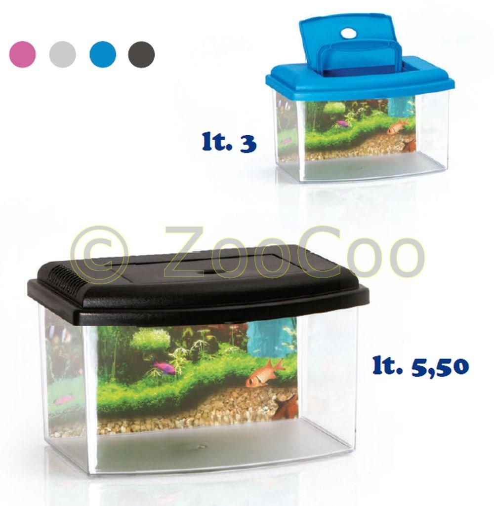 Nano-Aquarium-Acryl-Terrarium-Kunststoff-Plastik-Garnelen-Aufzucht-Becken-Mini