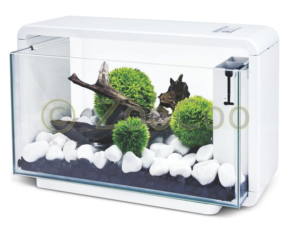 hailea e25 aquariumset eco aquarium komplett set nano e 25 weiss schwarz ebay. Black Bedroom Furniture Sets. Home Design Ideas