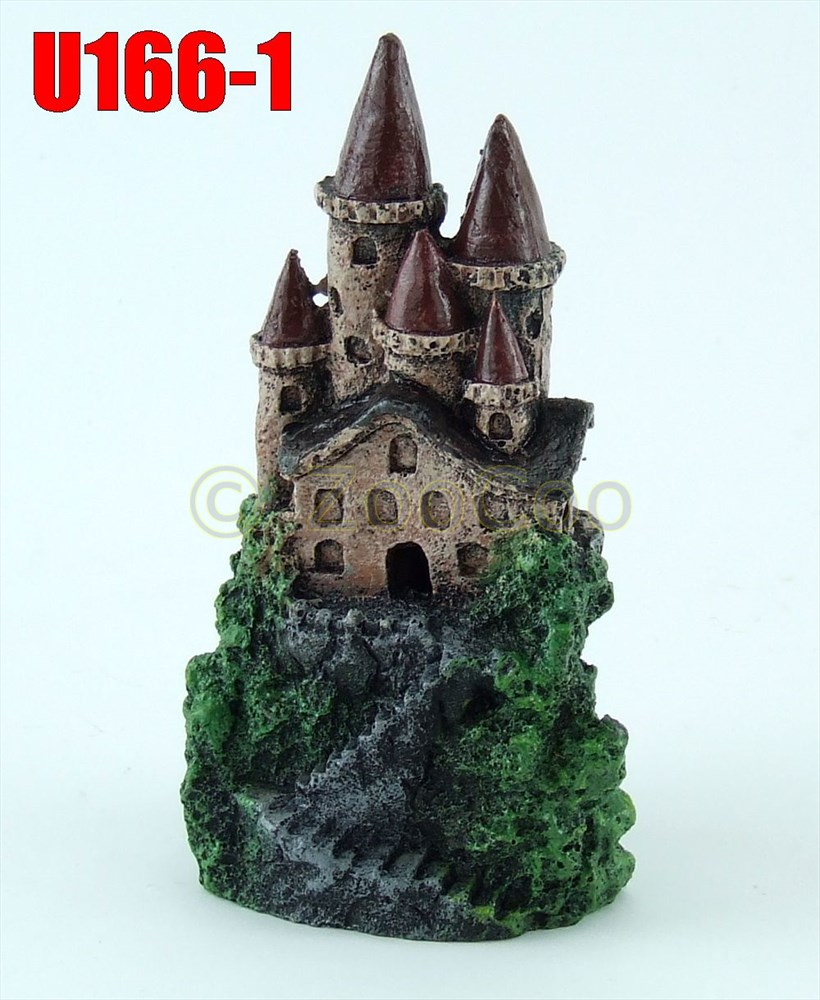 aquarium deko mini burg schloss festung ritterburg dekoration u 166 ebay. Black Bedroom Furniture Sets. Home Design Ideas