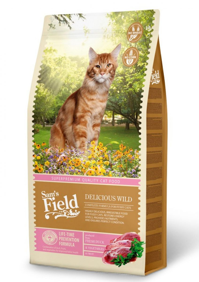 sams field cat delicious wild katzenfutter trockenfutter. Black Bedroom Furniture Sets. Home Design Ideas