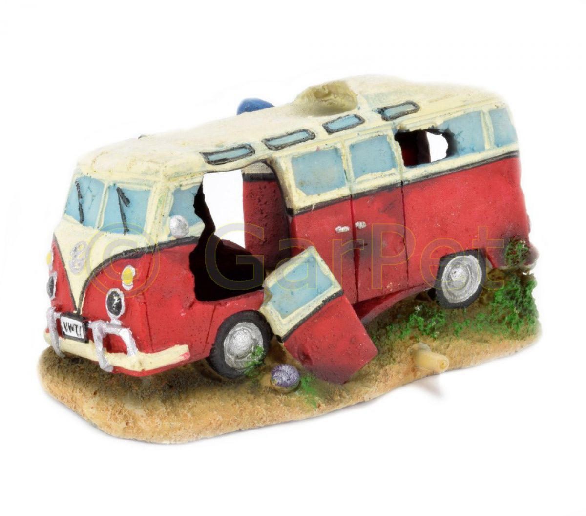 aquarium deko transporter hippie bus bulli auto t1 autowrack wrack aquarien deko ebay. Black Bedroom Furniture Sets. Home Design Ideas