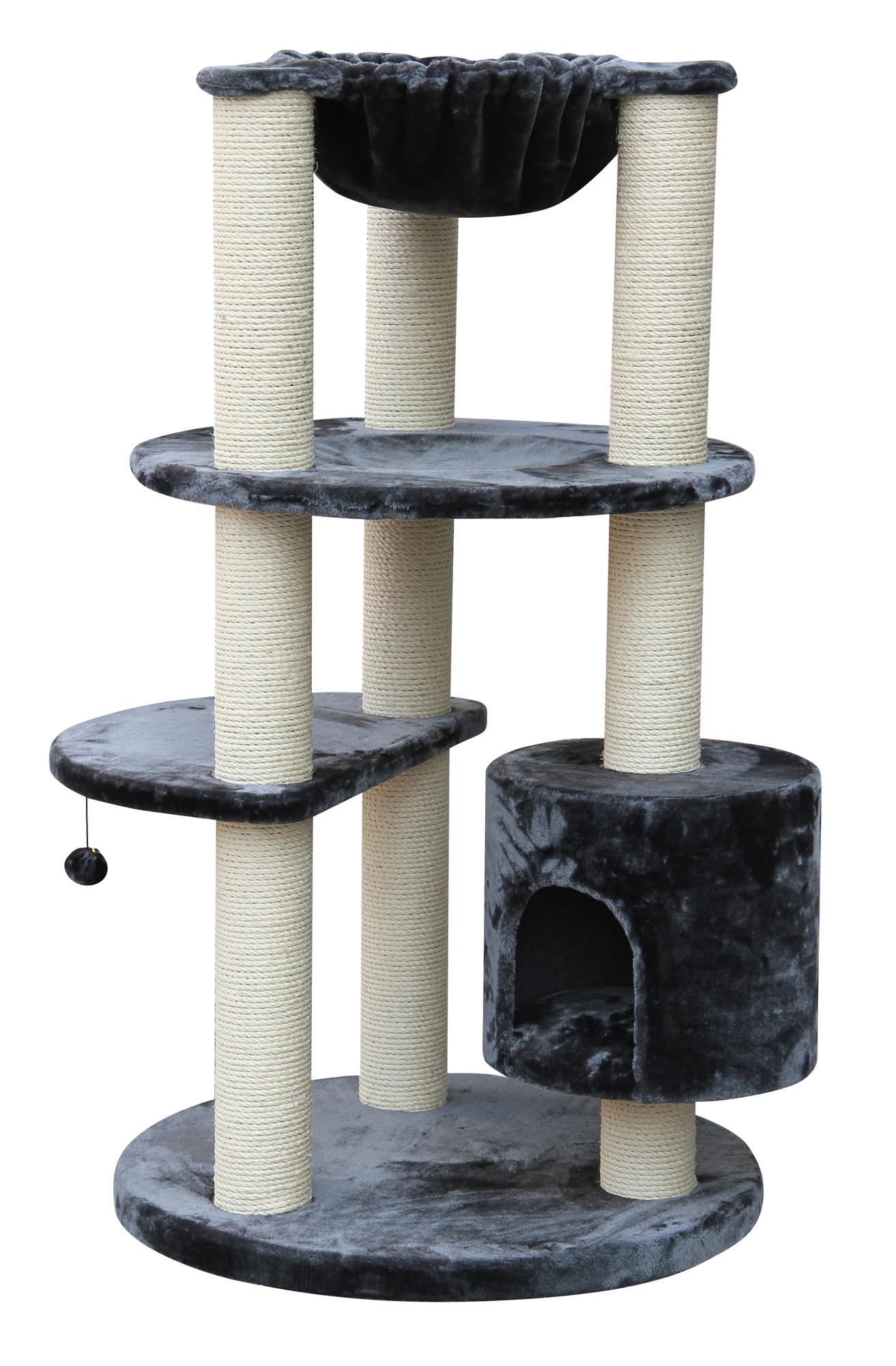 kratzbaum maine coon colosseum xl grau speziell f r. Black Bedroom Furniture Sets. Home Design Ideas