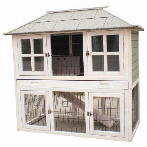 kleintierstall hasenstall kaninchenstall hasenk fig nagerk fig juliette ebay. Black Bedroom Furniture Sets. Home Design Ideas