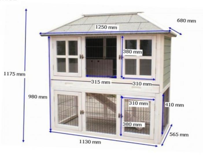 kleintierstall hasenstall kaninchenstall hasenk fig. Black Bedroom Furniture Sets. Home Design Ideas