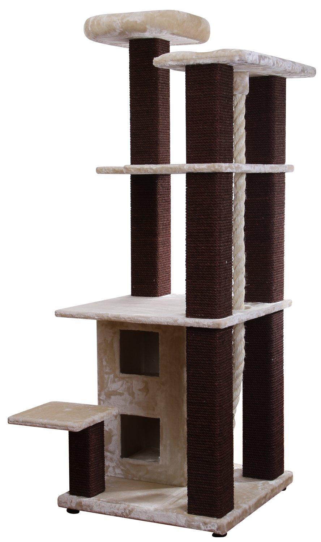 xxl kratzbaum xtreme beige braun speziell f r gro e und schwere katzen ebay. Black Bedroom Furniture Sets. Home Design Ideas