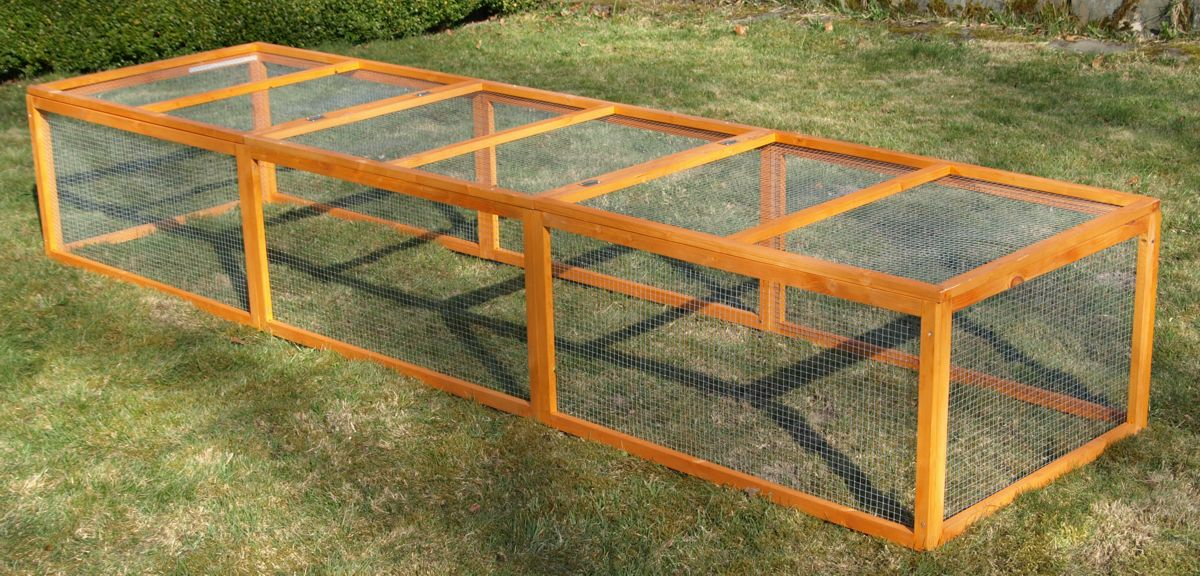 freigehege florencia f r meerschweinchen kaninchen h hner usw 3 meter lang ebay. Black Bedroom Furniture Sets. Home Design Ideas