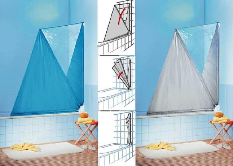 duschvorhang duschsegel duschkabine von spirella in wei. Black Bedroom Furniture Sets. Home Design Ideas